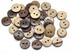 Knoflík Wood Button Coconut 10mm