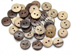 Knoflík Wood Button Coconut 12,5mm
